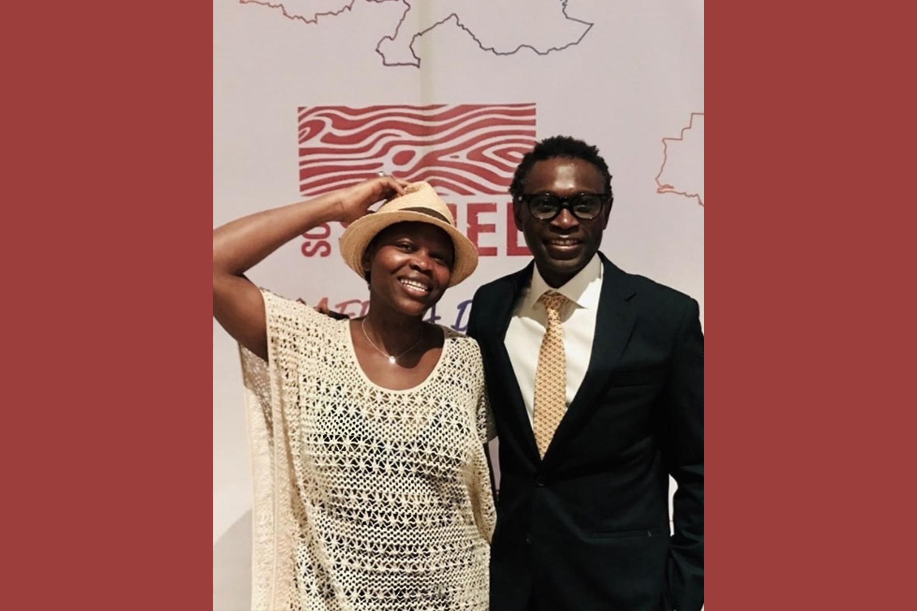 Passer saluer Chef Pierre Thiam, mon hôte à la soirée de Gala SOS Sahel, Dakar Sénégal